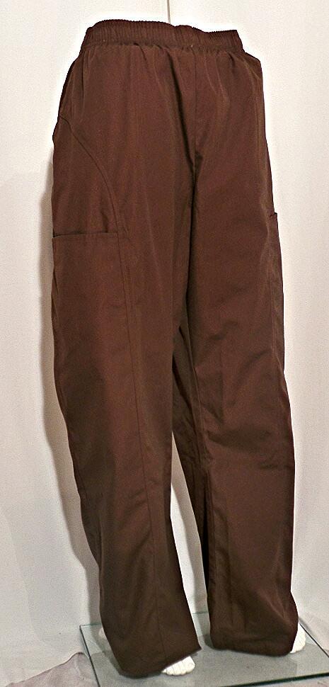 Cherokee Chocolate Elastic Waist Pant Scrubs N Such