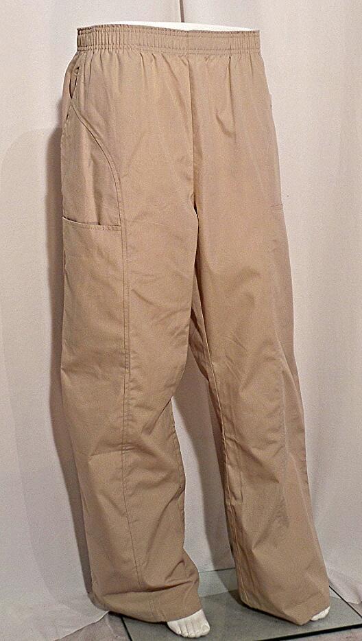 Cherokee Khaki Elastic Waist Pant Scrubs N Such