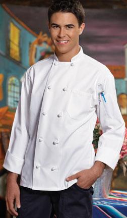 Classic Knot Chef Coat - White Unisex